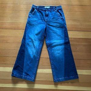 Gap wide leg crop jeans